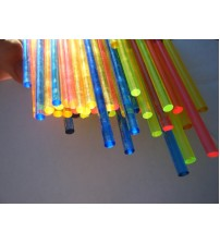 1/4 Inch Fluorescent Fiber Colored Rod