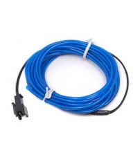 El Electroluminescent Glow Wire 5mm Lightning Wire Blue - Hard Wire