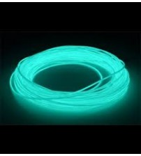 El Electroluminescent Glow Wire 5mm Lightning Wire Aqua - Raw No Snaps