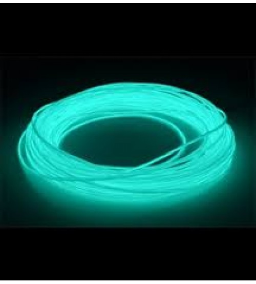 3mm EL Electroluminescent Glow Wire Aqua Raw