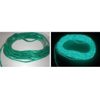 El Electroluminescent Glow Wire 5mm Lightning Wire Green - Hard Wire