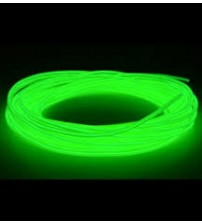 El Electroluminescent Glow Wire 2mm Lightning Wire Lime Green - Hard Wire