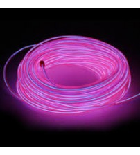 El Electroluminescent Glow Wire 5mm Lightning Wire Coral - Hard Wire