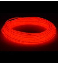 El Electroluminescent Glow Wire 5mm Lightning Wire Red - Raw No Snaps