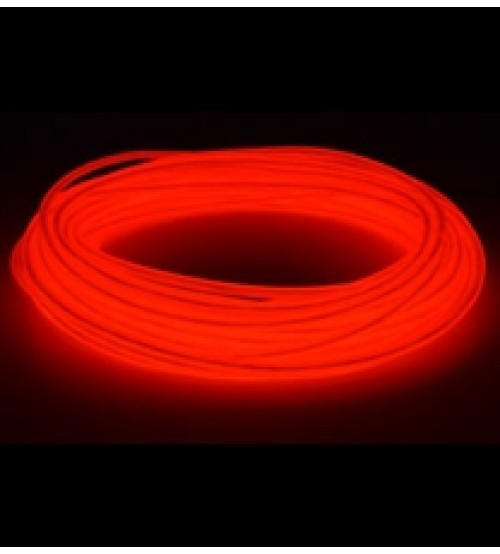 3mm El Electroluminescent Glow Wire Red Hard