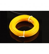 El Electroluminescent Glow Wire 5mm Lightning Wire Yellow - Hard Wire