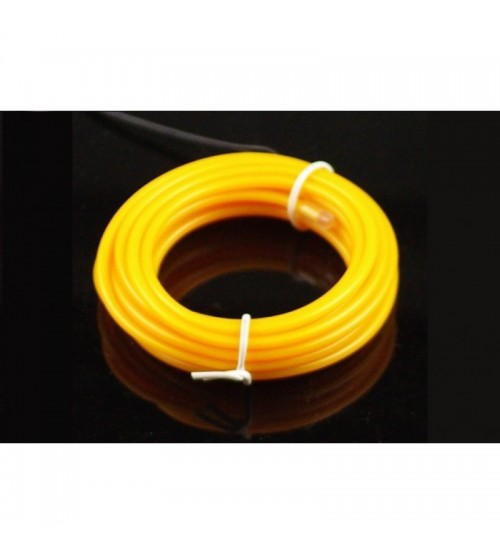 3mm EL Electroluminescent Glow Wire Yellow RAW