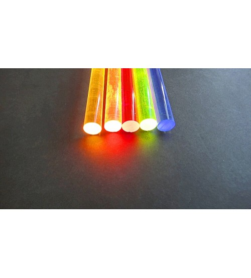 1/2 Inch Fluorescent Fiber Colored Rod