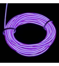 El Electroluminescent Glow Wire 2mm Lightning Wire Violet - Hard Wire