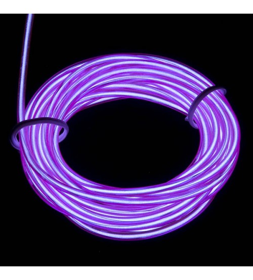 3mm El Electroluminescent Glow Wire Violet Raw