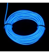 3mm El Electroluminescent Glow Wire Blue Raw