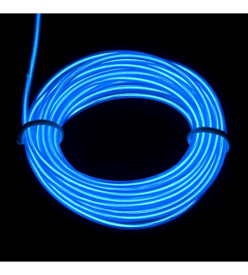 3mm El Electroluminescent Glow Wire Blue Hard
