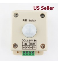 MOTION ACTIVATED SENSOR SWITCH 12 VOLT DC PASSIVE PIR LIGHT CONTROL