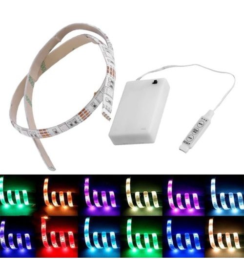 Battery Operated 100CM RGB LED Strip Light  4.5 VDC 39 Inch