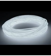 El Electroluminescent Glow Wire 2mm Lightning Wire White - Raw No Snaps