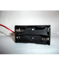 3 VOLT AA BATTERY HOLDER BOX CASE 6 INCH LEADS