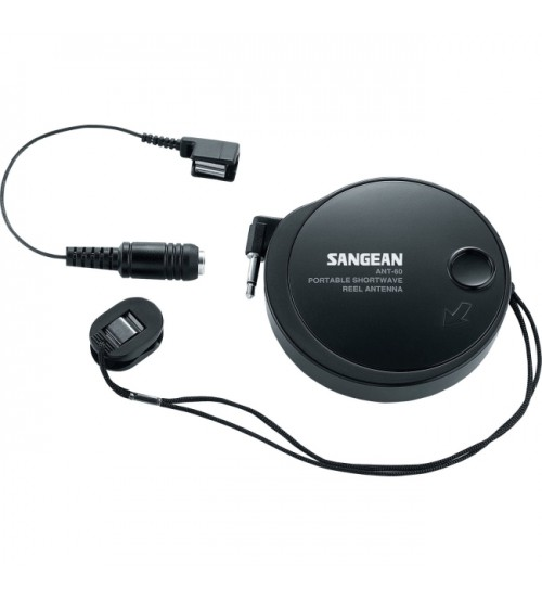 SANGEAN-PERSONAL and PORTABLE ANT-60 SW REEL ANTENNA