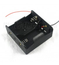 D Size Cell Battery Batteries Holder Box 3V DC Case With Wire Lead
