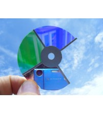 3 Inch Glass Color wheel with 4 Colors