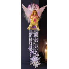 Fiber Optic Christmas Angel & Dangler Snowflakes