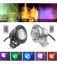 10W Waterproof RGB LED 12V Underwater Spot Light Pool Pond Aquarium Lamp