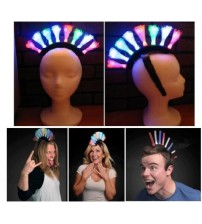 Fiber Optic LED Light-Up Mohawk Headband