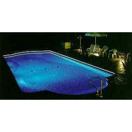 fiber optic pool edge lighting kit 150 feet. Black Bedroom Furniture Sets. Home Design Ideas
