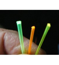Square Fluorescent Fiber .06 or 1.5mm Green